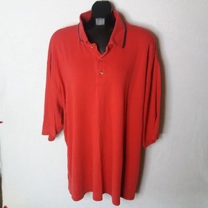 3XLT Red Polyester Polo Golf Office Casual Shirt